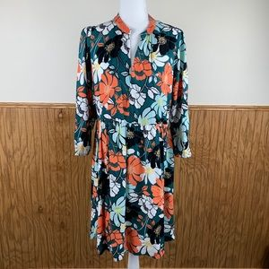 Maeve for Anthro Midi Tunic Floral Dress
